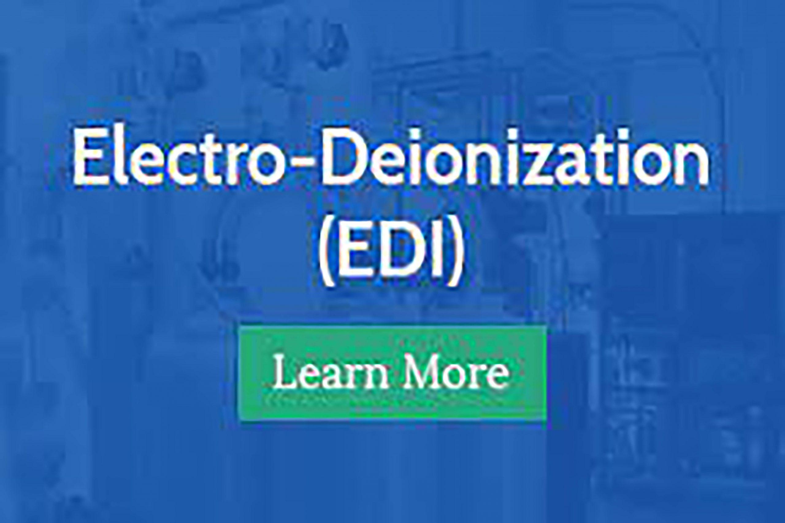 H2O Solutions Electro-Deionization (EDI)