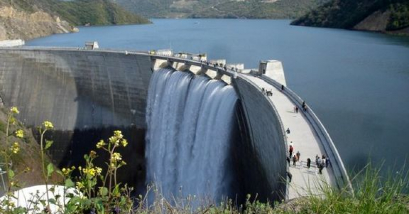 82 percent of the country's dams were filled with water